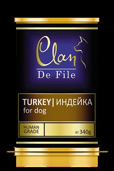 Clan De File - Консервы для собак (индейка) № 62 - фото 8301