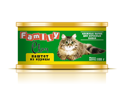 Clan  Family - Консервы для кошек (паштет из курицы) №22 - фото 8331