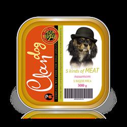 Clan - Консервы для собак (паштет 5 видов мяса) - фото 8363