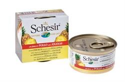 Schesir - Консервы для кошек (цыплёнок с ананасом) - фото 8448