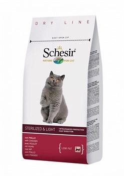 Schesir - Сухой корм для кошек стерилизованных кошек и с избыточным весом - фото 8463