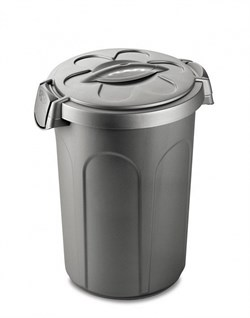 Stefanplast - Контейнер для хранения корма, 45х40х61см, 16кг (серебряный) Container Tom Silver - фото 9986
