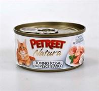Petreet - Консервы для кошек (кусочки розового тунца с рыбой дорада) Natura