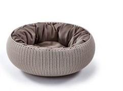 """Curver PetLife - Лежак для животных """"Вязаный комфорт"""" с подушкой, 54*20,2 см, дымчато-бежевый"""