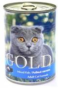 Nero Gold Super Premium - Консервы для кошек (рыбный коктейль) Cat Adult Mixed Fish