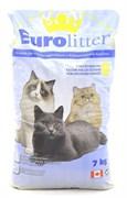 """Eurolitter - Наполнитель комкующийся без пыли """"Контроль запаха"""" для кошек (аромат детской присыпки) Dust Free"""