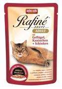 Animonda - Паучи для взрослых кошек (с домашней птицей, кроликом и ветчиной) Rafine Soupe Adult
