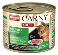 Animonda - Консервы для кошек (с индейкой и кроликом) CARNY Adult