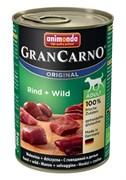 Animonda - Консервы для взрослых собак (с говядиной и дичью) GranCarno Original Adult