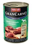 Animonda - Консервы для взрослых собак (c говядиной, олениной и яблоком) GranCarno Original Adult