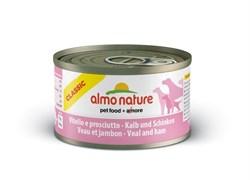 Almo Nature - Консервы для собак (с телятиной и ветчиной) Classic Veal & Ham