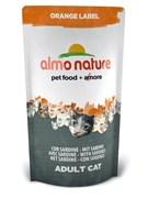 Almo Nature - Сухой корм для кастрированных кошек (с сардинами) Orange label Cat Sardines
