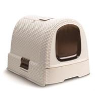 Curver PetLife - Туалет-домик для кошек, кремово-коричневый, 51*39*40см