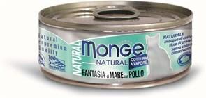 Monge - Консервы для кошек (морепродукты с курицей) Cat Natural