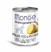 Monge - Консервы для собак (паштет из курицы с рисом и ананасами) Dog Monoproteico Fruits