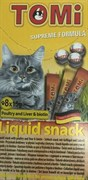 Tomi - Лакомство-соус для кошек 8 шт (домашняя птица) + биотин
