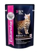 Eukanuba - паучи для взрослых кошек (с лососем в соусе) Adult Cat Top Condition with Salmon