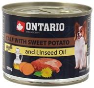 Ontario - Консервы для собак малых пород (с телятиной и бататом) Mini Calf With Sweet Potato, Dandelion and Linseed oil