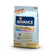 Advance - Сухой корм для собак малых пород с чувствительным пищеварением Mini Sensitive