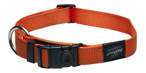 Rogz - Ошейник, оранжевый (размер S (20-31 см), ширина 1,1 см) UTILITY SIDE RELEASE COLLAR