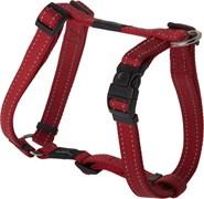 Rogz - Шлейка, красный (размер M (32-52 см), ширина 1,6 см) UTILITY H-HARNESS