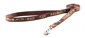 "Rogz - Поводок ""Кофейные косточки"" (размер S - ширина 1,1 см, длина 1,8 м) FANCY DRESS FIXED LEAD"