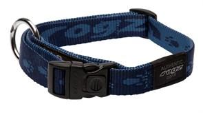 Rogz - Ошейник, темно-синий (размер M (26-40 см), ширина 1,6 см) ALPINIST SIDE RELEASE COLLAR