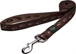 Rogz - Удлиненный поводок, шоколадный (размер М - ширина 1,6 см, длина 1,8 м) ALPINIST FIXED LONG LEAD