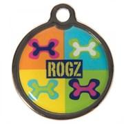 "Rogz - Адресник металлический малый ""Поп-арт"" METAL ID TAG SMALL"