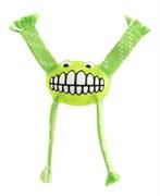 Rogz - Игрушка с принтом зубы и пищалкой, большая (лайм) FLOSSY GRINZ ORALCARE TOY