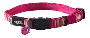 """Rogz - Ошейник с застежкой для кошек """"Розовые леденцы"""" (ширина - 1,1 см, размер - 20-31 см) NEOCAT SAFELOC COLLAR"""