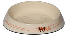"Rogz - Миска для комфортного кормления ""Fishcake"", ""Птички на проводах"", 200 мл MELAMINE CAT BOWL"