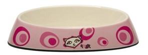 "Rogz - Миска для комфортного кормления ""Fishcake"", ""Розовое цветение"", 200 мл MELAMINE CAT BOWL"