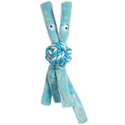 Rogz - Игрушка для щенков канатная с пищалкой, малая (голубой) COWBOYZ ROPE TOY