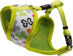 """Rogz - Шлейка-манишка для собак малых пород """"Разноцветные косточки"""" (размер S (32-44 см), ширина 12 мм) FABRIC HARNESS"""