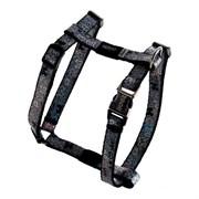 """Rogz - Шлейка для собак малых пород """"Черные косточки"""" (размер S (28-47 см), ширина 12 мм) H-HARNESS"""