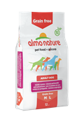Almo Nature - Сухой корм беззерновой для собак средних и крупных пород (с лососем и картофелем) HOLISTIC GRAIN FREE DOGS M-L SALMON AND POTATOES