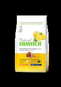 Trainer - Сухой корм для взрослых собак мелких и миниатюрных пород (с сыровяленой ветчиной и рисом) Trainer Natural Small & Toy