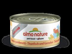 Almo Nature - Консервы для кошек, 75% мяса (с Тунцом и Креветками) Legend Adult Cat Tuna and Shrimps