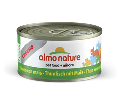 Almo Nature - Консервы для кошек (с Тунцом и Сладкой кукурузой) Legend Adult Cat Tuna and Sweet Corn
