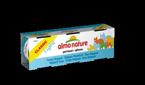 Almo Nature - Низкокалорийные консервы для кошек (c Полосатым Тунцом) Набор 3 шт. по 50 г Classic Light Cat Skipjack Tuna