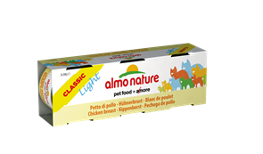 """Almo Nature - Низкокалорийные консервы для кошек """"Куриная грудка"""" (Набор 3 шт. по 50 г) Classic Light Cat Chicken Breast"""