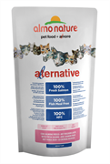 Almo Nature Alternative - Сухой корм для кошек (со свежим лососем), 55% мяса Alternative Salmon and Rice