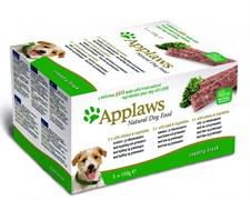 "Applaws - Набор для собак ""Курица, Ягненок, Лосось"" (5 шт*150 г) Dog Pate MP Country Selection Chicken, Lamb and Salmon"