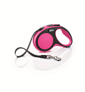 Flexi - Рулетка-ремень для собак, размер S - 5 м до 15 кг (розовая) New Comfort Tape pink