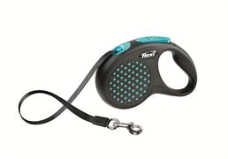 Flexi - Рулетка-ремень для собак, размер S - 5 м до 15 кг (голубая) Design Tape blue