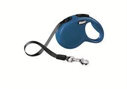 Flexi - Рулетка-ремень для собак, размер XS - 3 м до 12 кг (голубая) New Classic tape blue