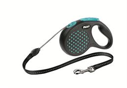 Flexi - Рулетка-трос для собак, размер S - 5 м до 12 кг (голубая) Design Cord blue