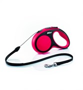 Flexi - Рулетка-трос для собак, размер S - 5 м до 12 кг (красная) New Comfort Cord red