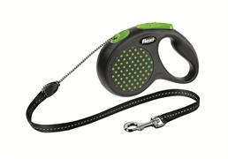 Flexi - Рулетка-трос для собак, размер M - 5 м до 20 кг (зеленая) Design Cord green